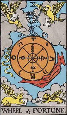 タロットカード「10:運命の輪」の意味と解釈【恋愛・復縁・片思い占い方法】
