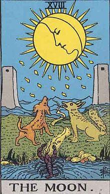 タロットカード「17:月 」の意味と解釈【恋愛・復縁・片思い占い方法】